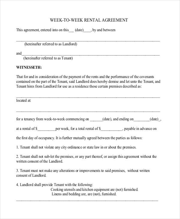 Residential Lease Agreement Template 26 Simple Rental Agreement Templates Free Word Pdf