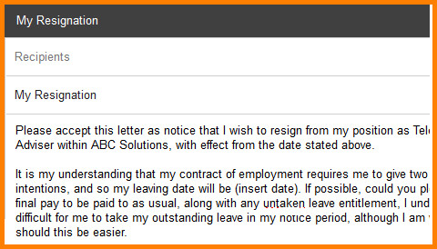 Resignation Letter Subject Line 8 Resignation Letter Subject In Email