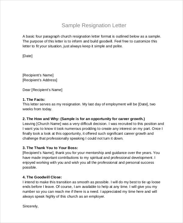 Resignation Letter Volunteer organization Sample Board Resignation Letter 5 Examples In Pdf Word
