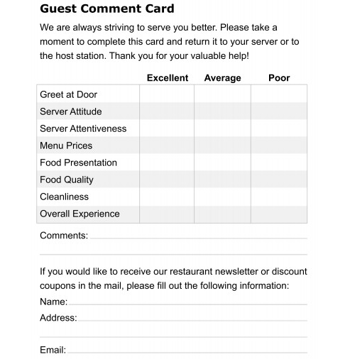 5 Restaurant ment Card Templates formats Examples in