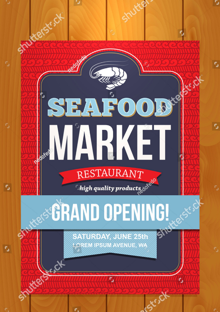 22 Restaurant Grand Opening Flyer Templates AI PSD