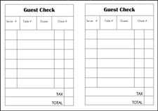 Restaurant Guest Check Template Dramatic Play Chinese Restaurant theme for Preschool
