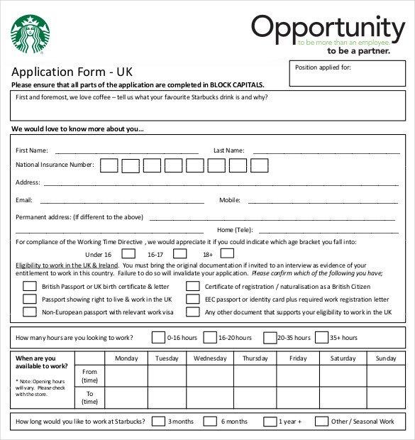Restaurant Job Application Template Employment Application California Template