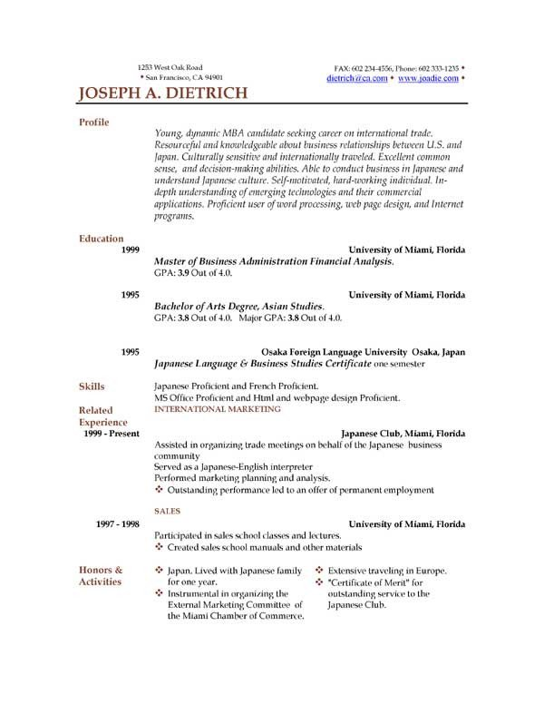 Resume Template Word Download 85 Free Resume Templates