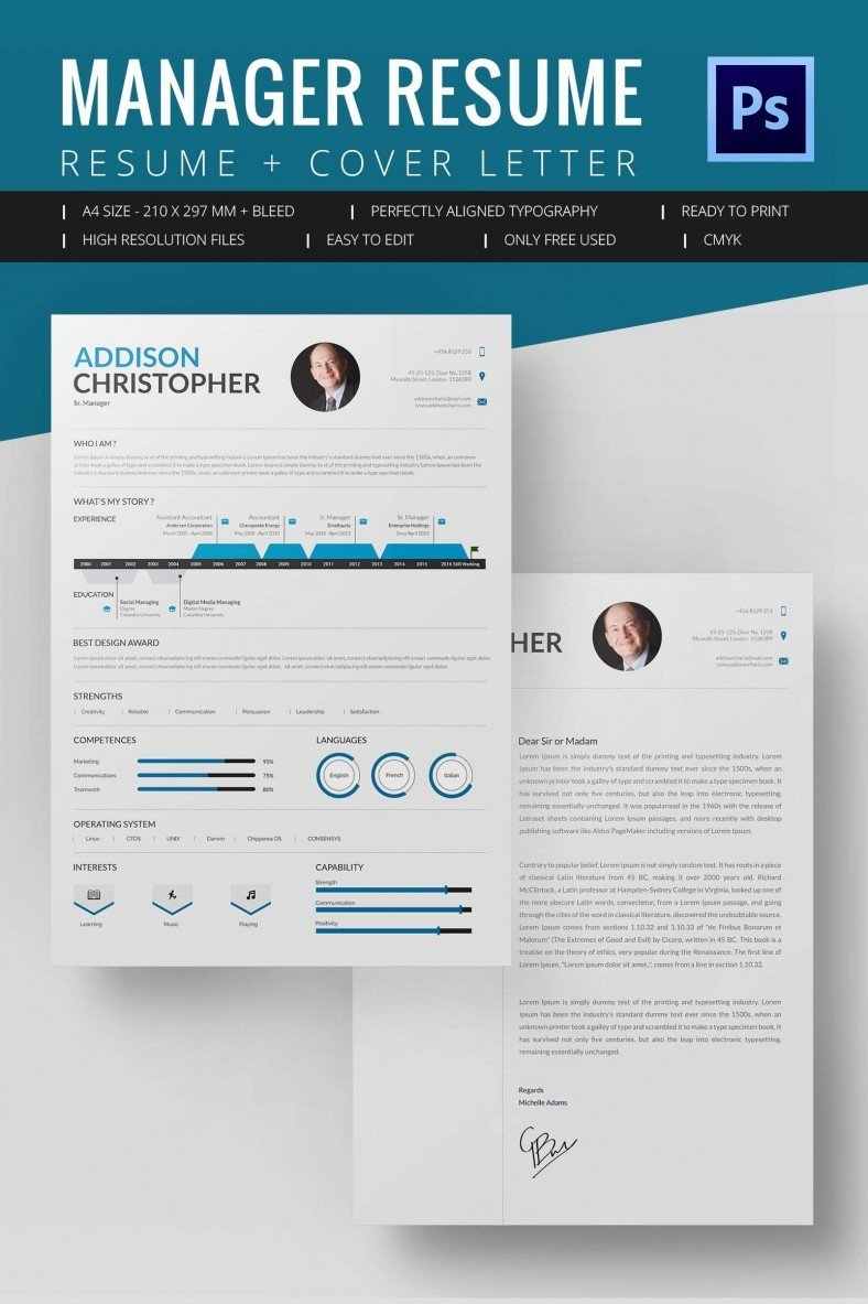 Resume Template Word Download Project Manager Resume Template 10 Free Word Excel