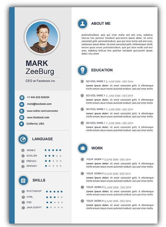 Resume Template Word Free Download 3 Free Download Resume Cv Templates for Microsoft Word