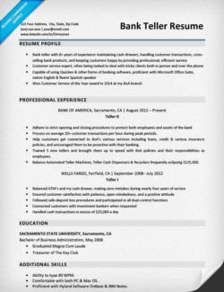 Resumes for Bank Teller Accounting Cpa Resume Sample
