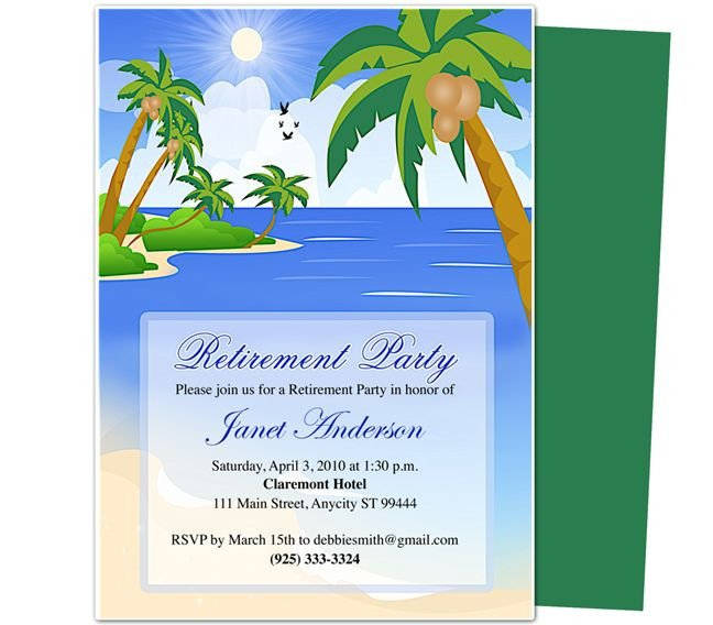 Retirement Party Invitation Templates Retirement Templates Paradise Retirement Party