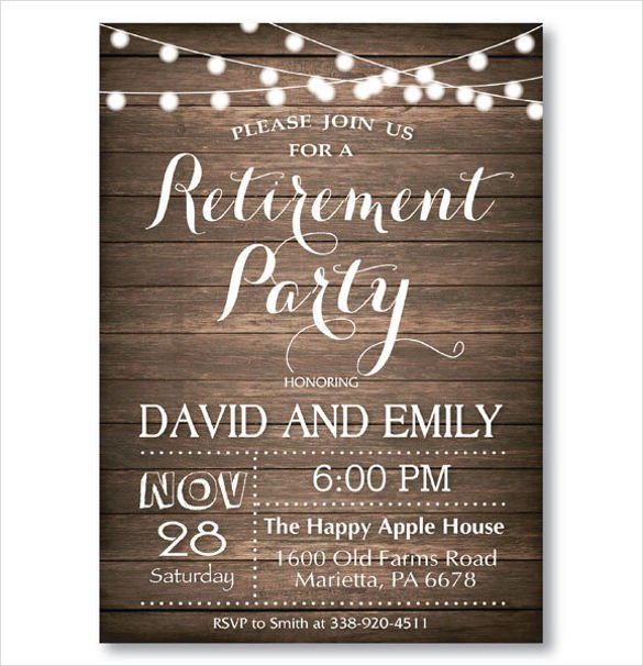 Retirement Party Invitations Template 36 Retirement Party Invitation Templates Psd Ai Word