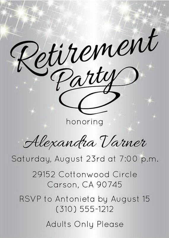 Best 25 Retirement invitations ideas on Pinterest