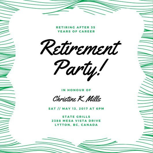 Retirement Party Invitations Template Customize 3 999 Retirement Party Invitation Templates