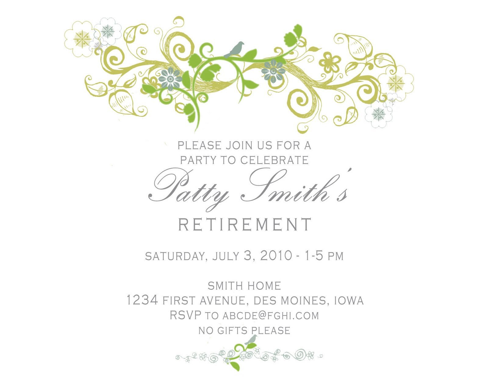 Retirement Party Invitations Template Idesign A Retirement Party Invitation