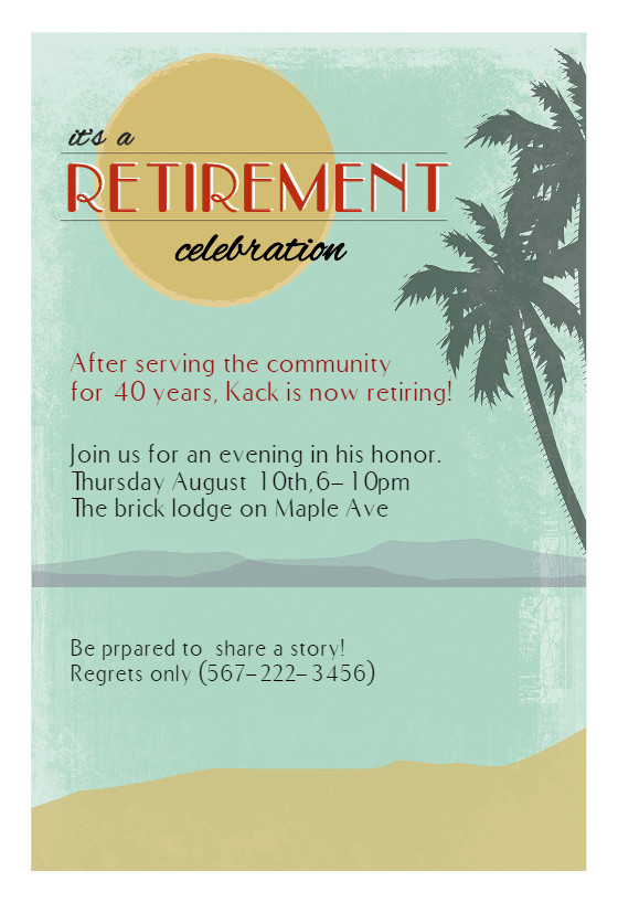 Retirement Party Invitations Template Its A Retirement Celebration Retirement & Farewell Party