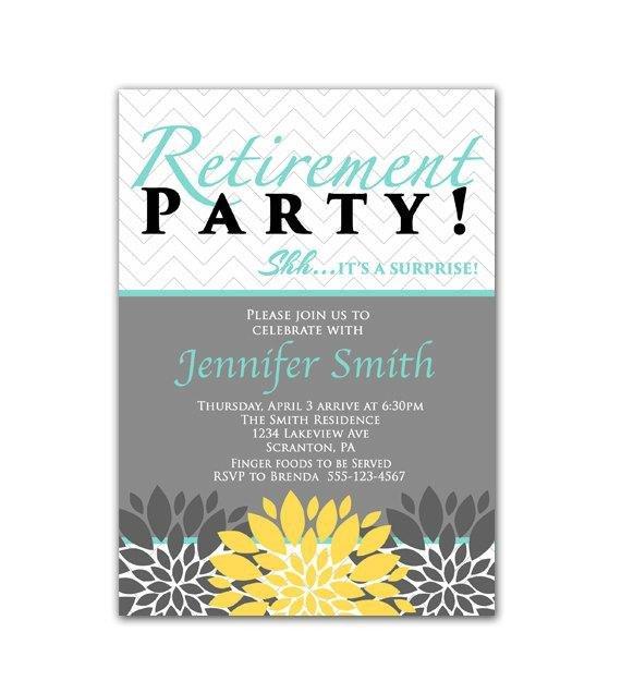 Retirement Party Invitations Template Surprise Retirement Party Invitation Blue Yellow by