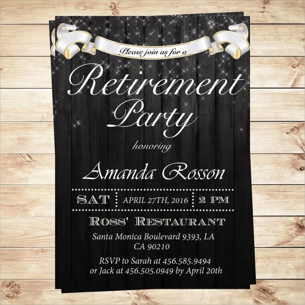 Retirement Party Invitations Templates 17 Retirement Party Invitations Psd Ai Word Pages