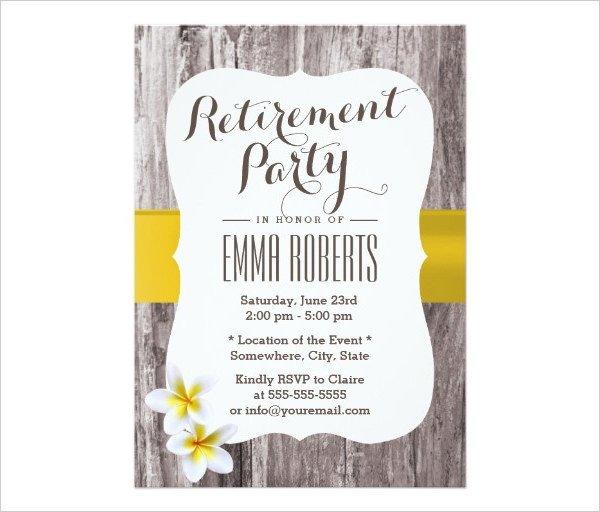 Retirement Party Invitations Templates 36 Retirement Party Invitation Templates Psd Ai Word