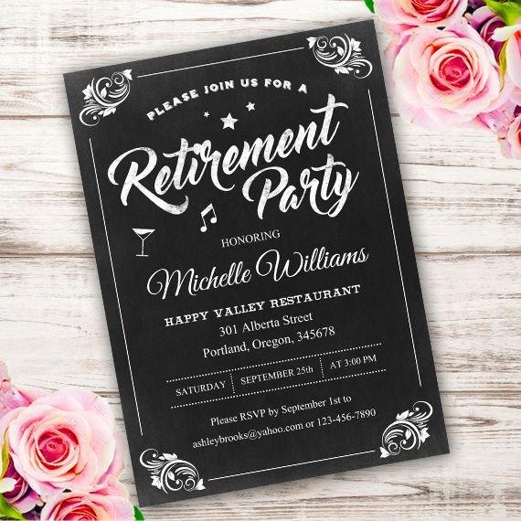 Retirement Party Invitations Templates Best 25 Retirement Invitations Ideas On Pinterest