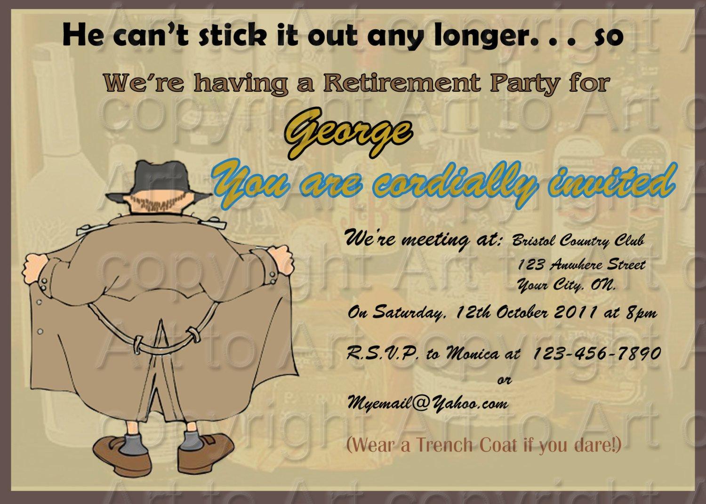 Retirement Party Invitations Templates Retirement Party Invitation 180 Personalized Digital You