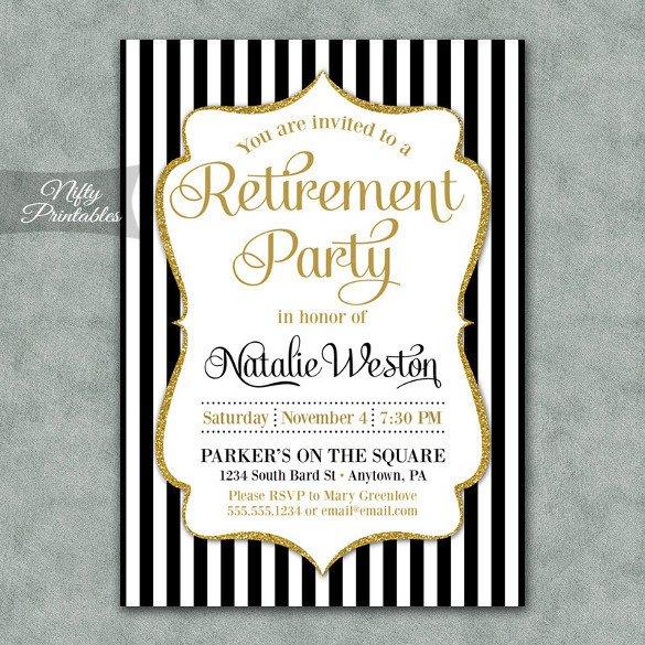 Retirement Party Invitations Templates Retirement Party Invitation Template – 36 Free Psd format
