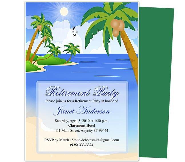 Retirement Party Invitations Templates Retirement Templates Paradise Retirement Party