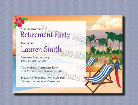 Retirement Party Invite Template 17 Retirement Party Invitations Psd Ai Word Pages