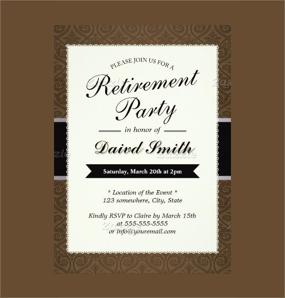 17 Retirement Party Invitations PSD AI Word Pages
