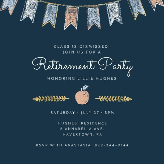Retirement Party Invite Template Customize 2 876 Retirement Party Invitation Templates