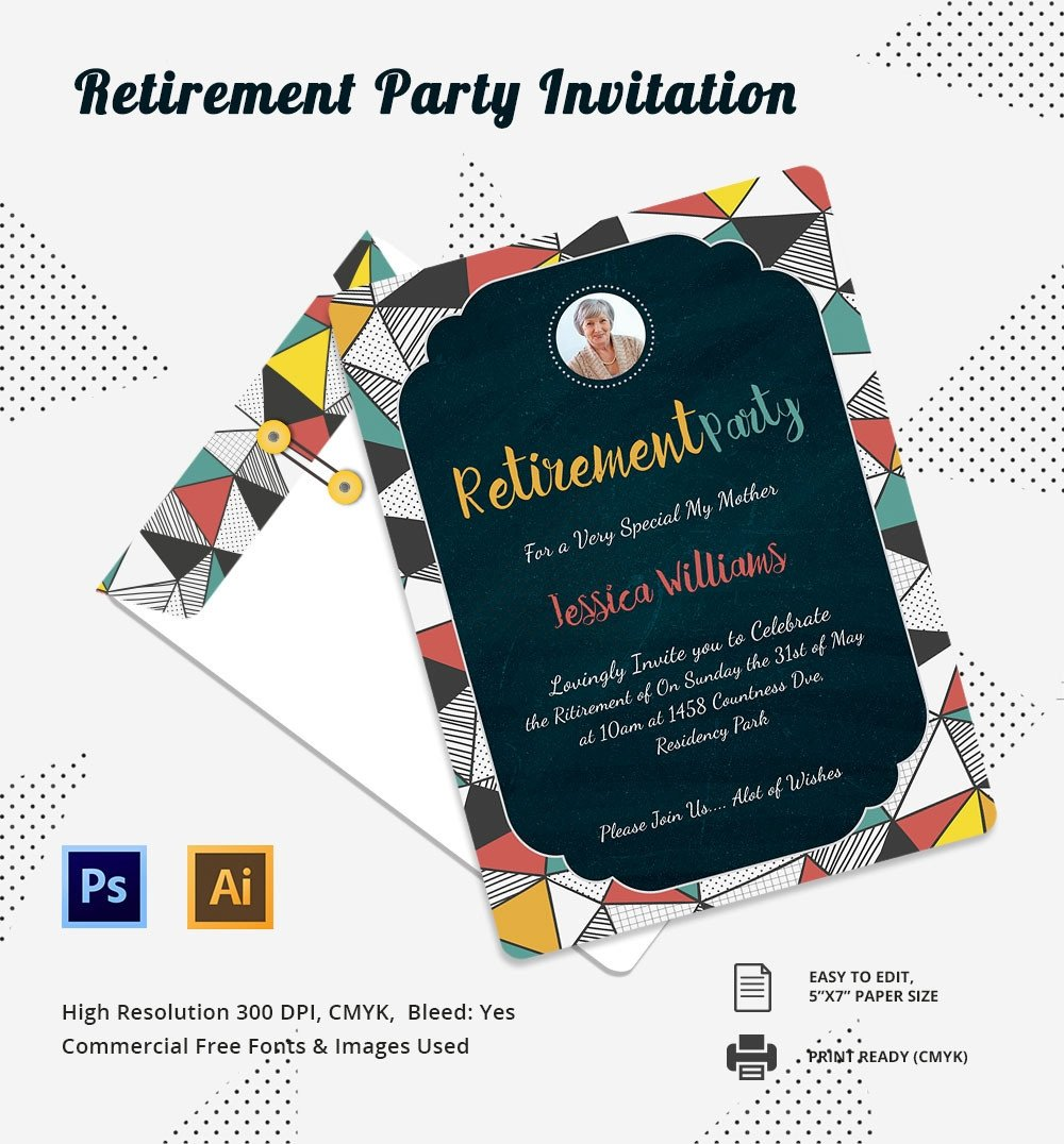 Retirement Party Invite Template Party Invitation Template – 31 Free Psd Vector Eps Ai