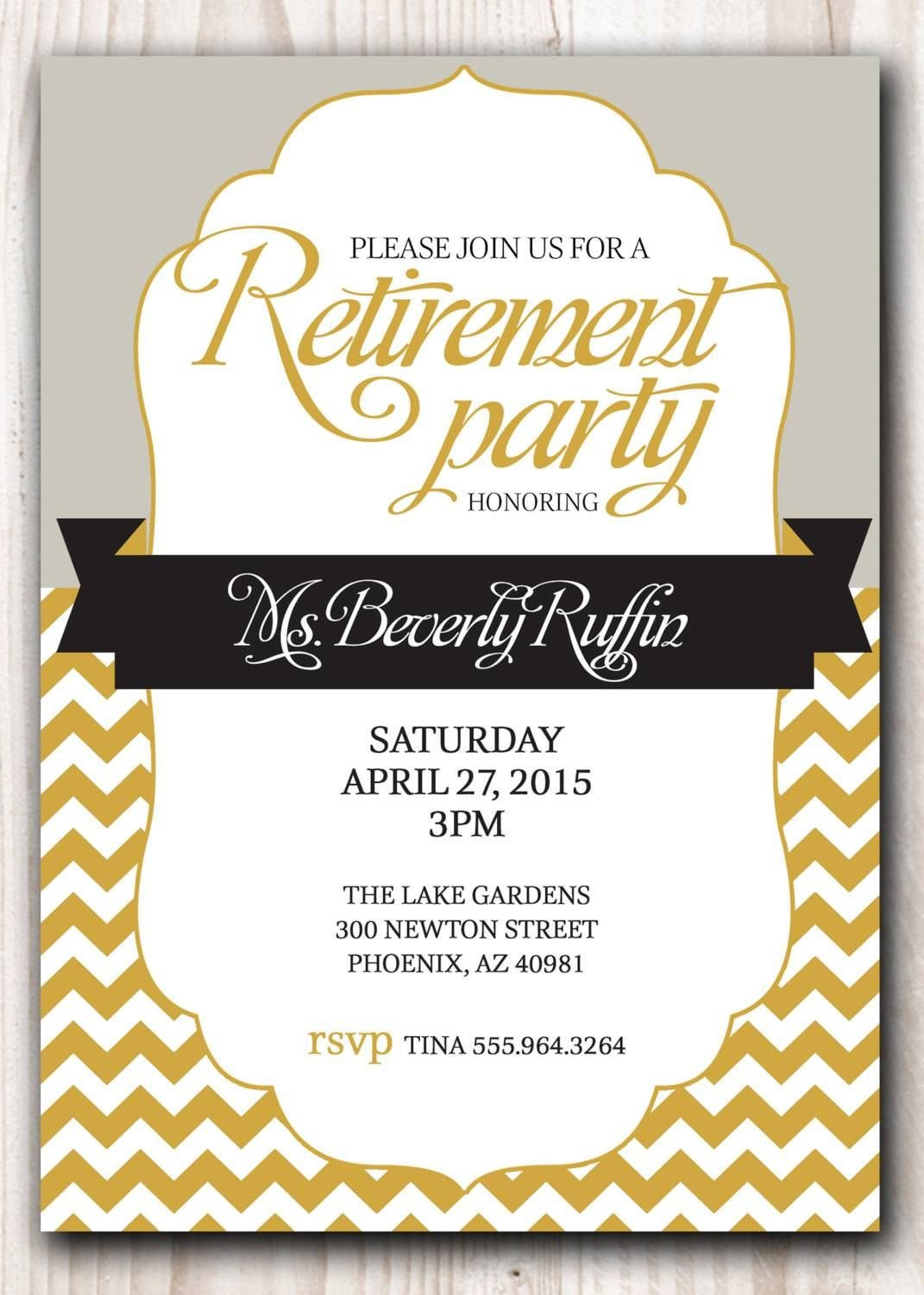 Retirement Party Invite Template Retirement Party Invitation Template Microsoft