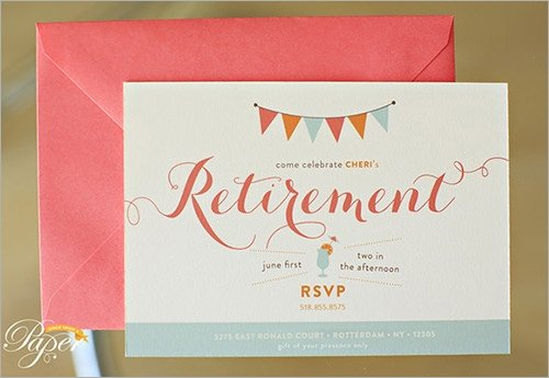 Retirement Party Invite Template Sample Invitation Template Download Premium and Free