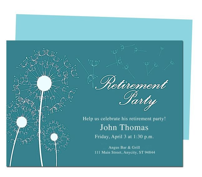 Retirement Party Invite Template Winds Retirement Party Invitation Templates Diy Printable