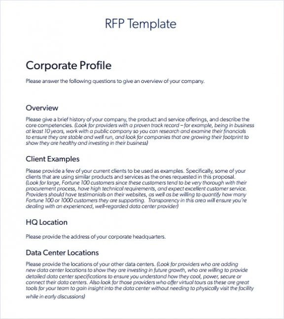 Rfp Response Template Information Technology Sample Rfp Response Template Information Technology Example