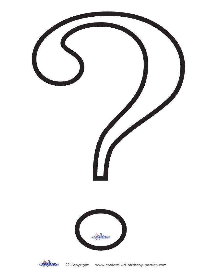 Riddler Mask Template Question Mark Outline Printable Clipart Best