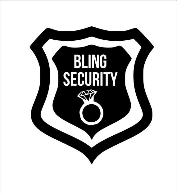 Ring Security Badge Template Bling Security Iron Decal Any Color
