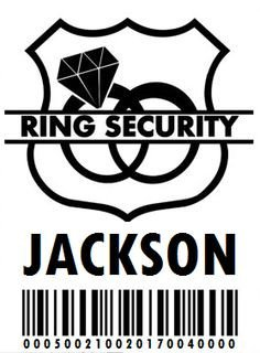 """Ring Security Badge Template Diy """"ring Security"""" Badge for the Ring Bearer"""