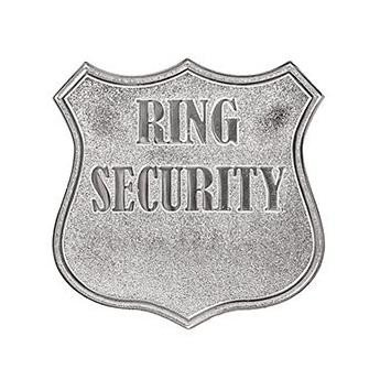 Ring Security Badge Template Personalized Ring Bearer Wedding Security Badge – Candy