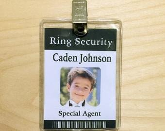 Ring Security Badge Template Ring Bearer Gifts Groomsmen Gifts Wedding Gifts by Crimsonking
