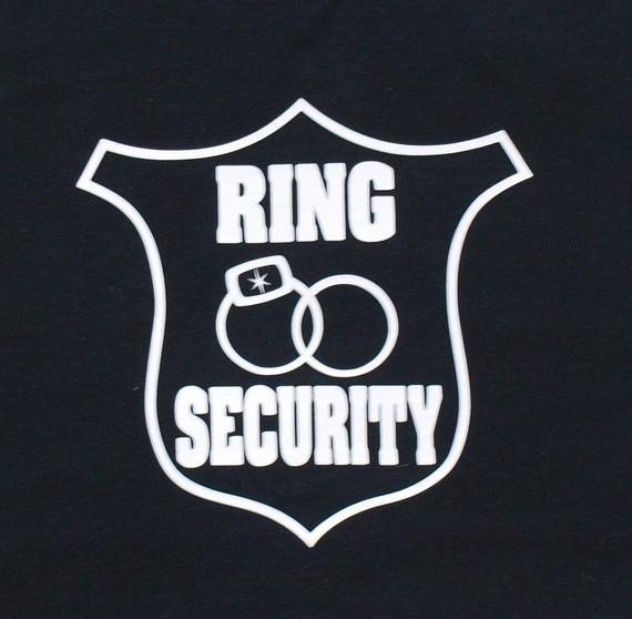 Ring Security Badge Template Ring Bearer Shirt Ring Security Shirt Customize with His