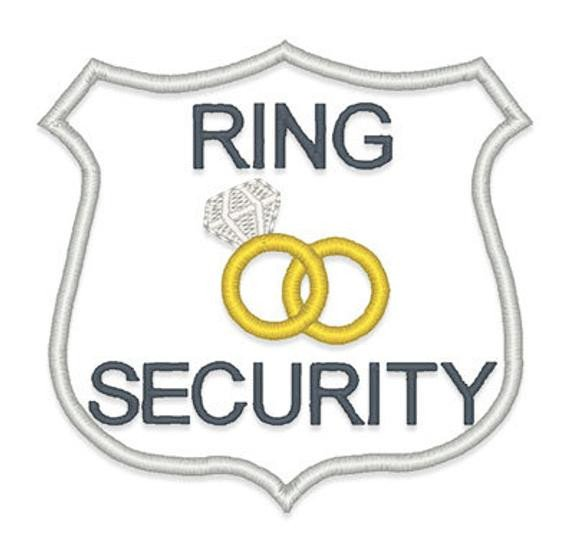 Ring Security Badge Template Ring Security Applique Embroidery Design Instant Download