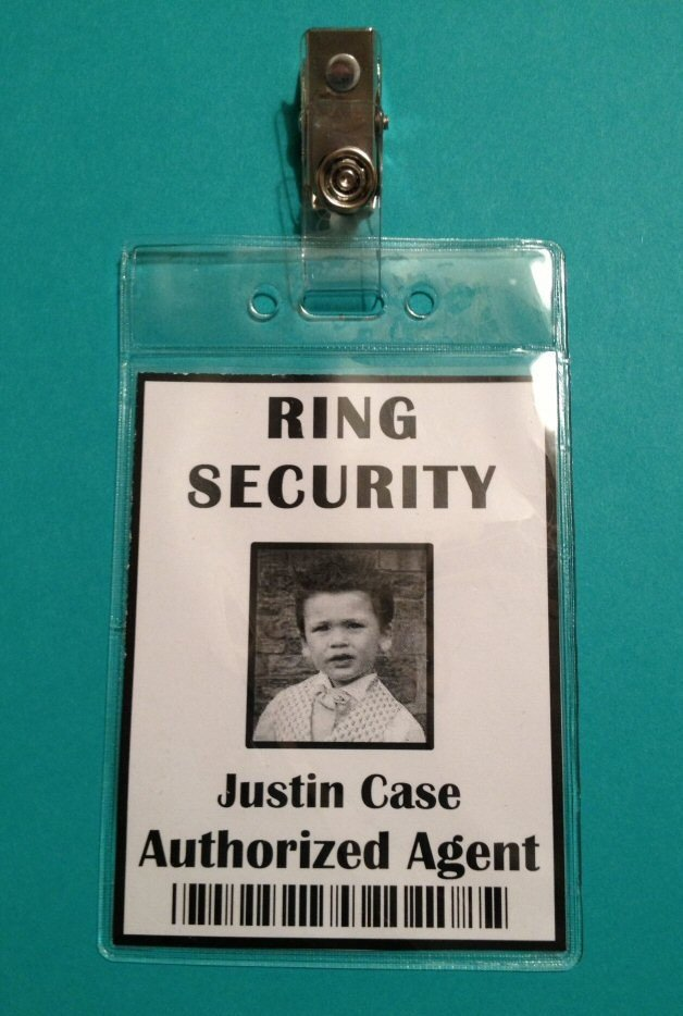 Ring Security Badge Template Ring Security Badge Ring Bearer Ring Security Agent