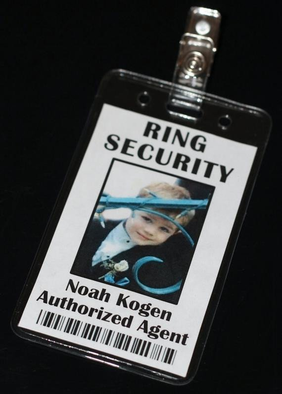 Ring Security Badge Template Ring Security Id Badge Secret Agent Alternative Gift for