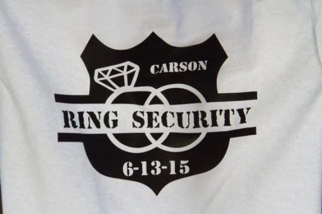Ring Security Badge Template Ring Security Ring Bearer T Shirt Wedding Gift