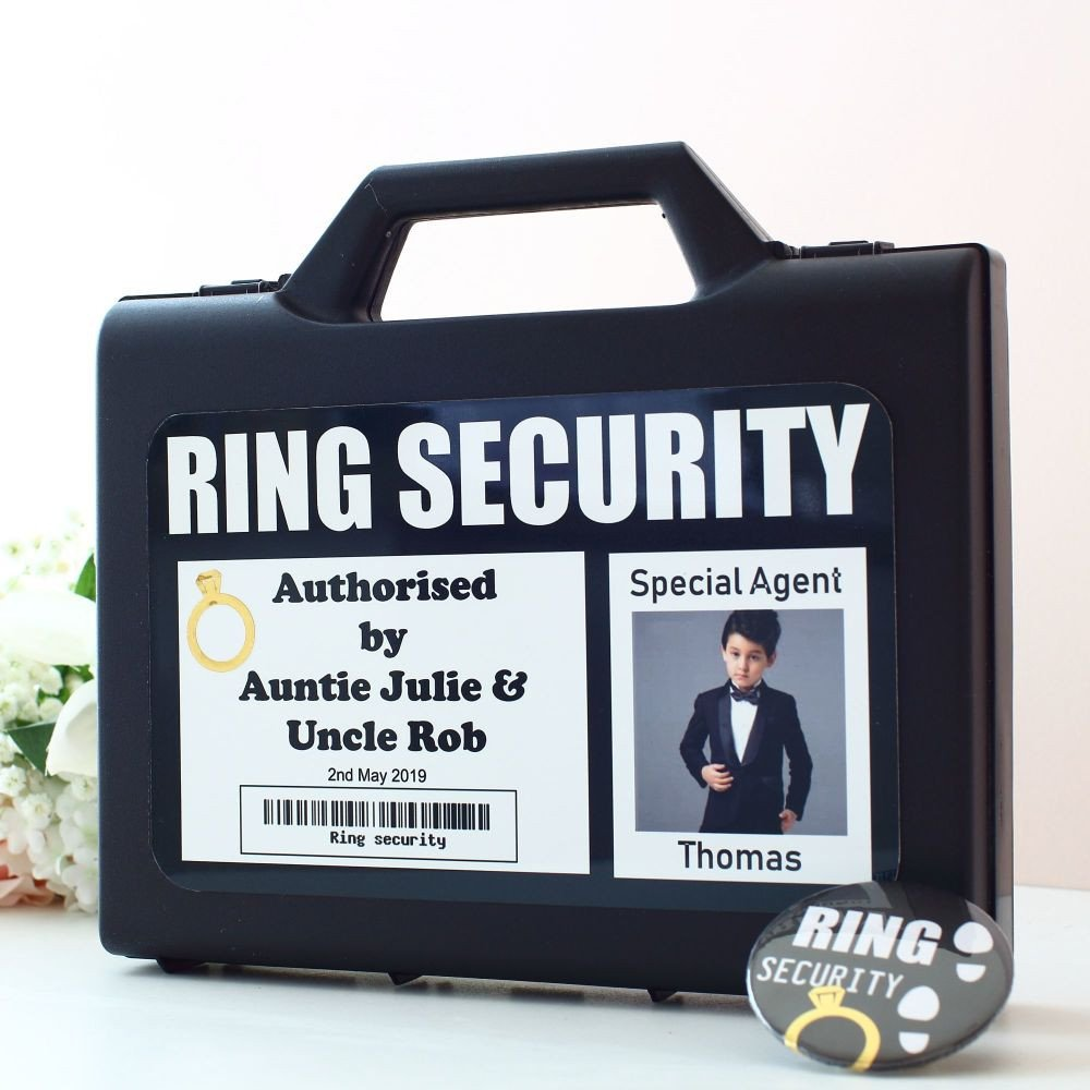 Ring Security Badge Template Wedding Ring Security Case and Badge