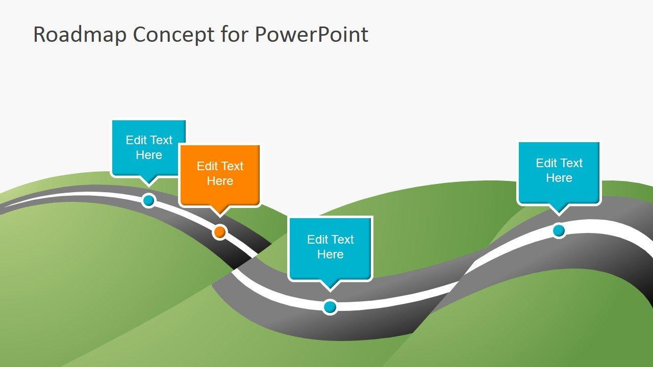 Roadmap Powerpoint Template Free Creative Roadmap Concept Powerpoint Template Slidemodel