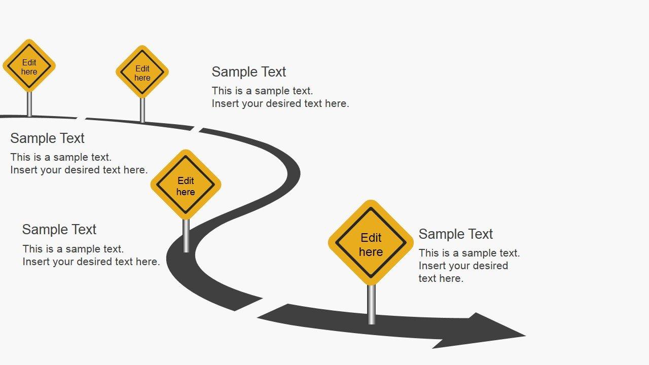 Roadmap Powerpoint Template Free Free Roadmap Slides for Powerpoint Slidemodel