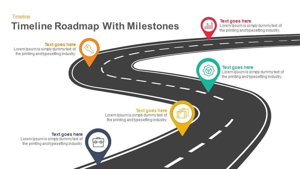 Roadmap Powerpoint Template Free Timeline Roadmap with Milestones Powerpoint Template and