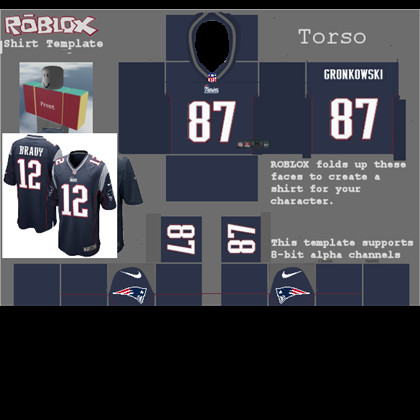Roblox Football Jersey Template Rob Gronkowski New England Patriots Home Jersey Roblox