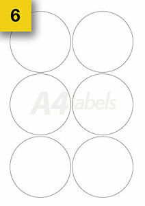 120 Self Adhesive Round Sticky Labels Circular Printer