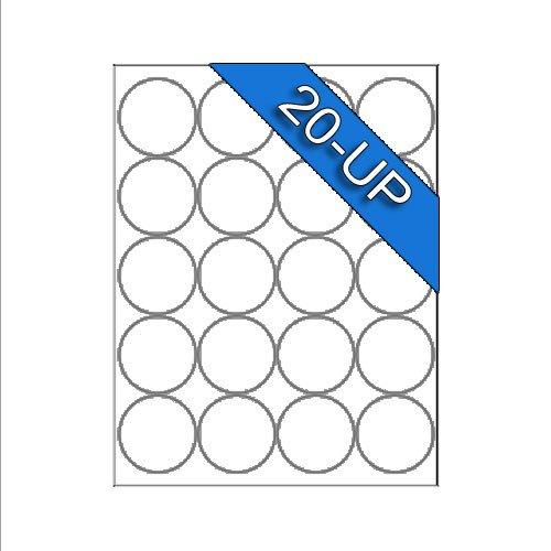 Round Adhesive Label Template Polaroid 2 Inch Circle Round Laser Inkjet White Blank Labels