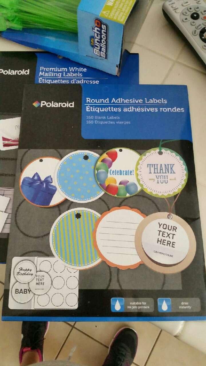 Round Adhesive Label Template Polaroid Letgo Ice Cream Sandwich Maker In Lane Ca